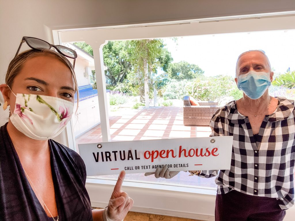 Chris Salvetti & Kristin Joy Hall at a Virtual Open House in Hope Ranch